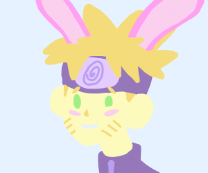 Cute naruto with bunny ears