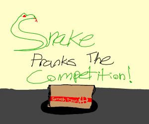 Snake in Smash in a box