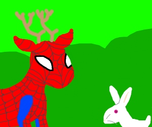 Spider deer and white hare
