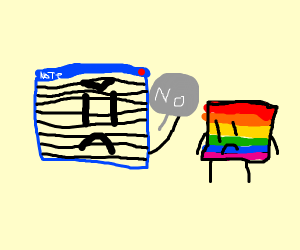 notepad does not like gay