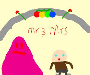 Toddler marrying Blob