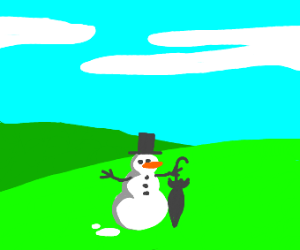 Windows Desktop Background w/ a Snowman