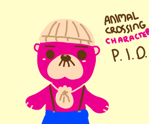 animal crossing character (pass it on)