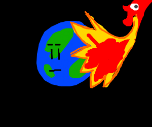"dragon gives earth a ""haircut"""
