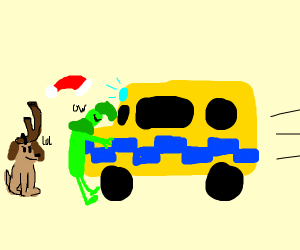 the grinch gets hit by an ambulance