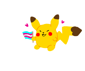 Pikachu supports trans rights
