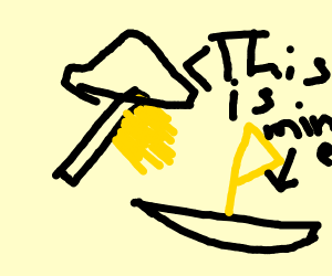 A brush commandeering a ship /w yellow flag