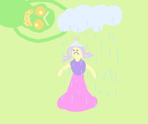 Making it rain on a princess