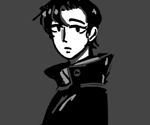A expressionless man looking at you