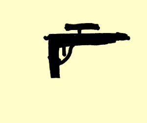 the kind of gun a 6 year old draws