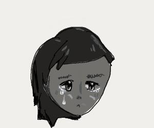 Depressed anime person