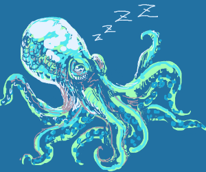 Sleeping cephalopod