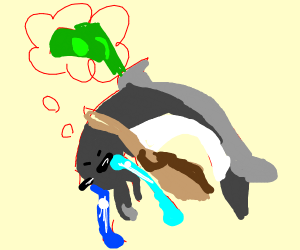 Corporate porpoise sad about money