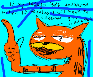 Garfield is tired of your crap