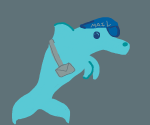 Mailman but it's a dolphin