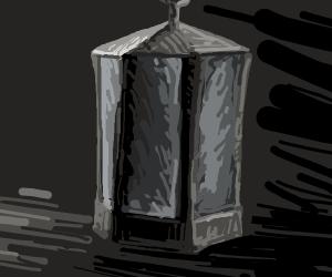 A lantern without light