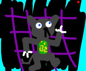 Robot humanoid cat creature