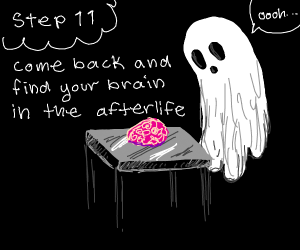 Step 10: die, bcos you threw out your brain