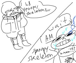sans hates spoopy skeletons