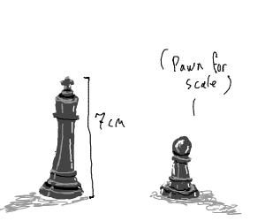 7 cm tall King