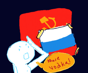 You see comrade draw anything with Russia