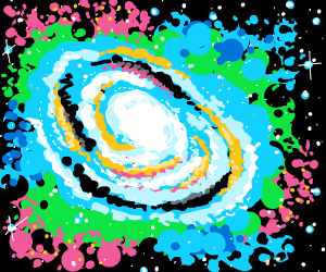 Spiral Galaxy with nebula