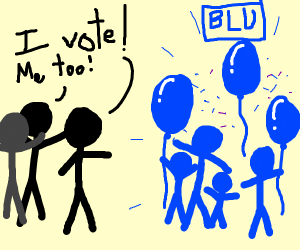 Vote for Blu party