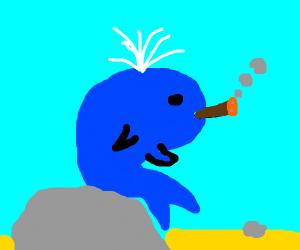 Blue Whale Smoking