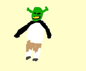shrek mixed with kung fu panda
