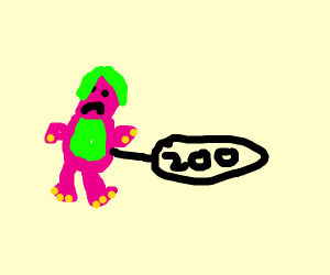 Barney for sale for $200