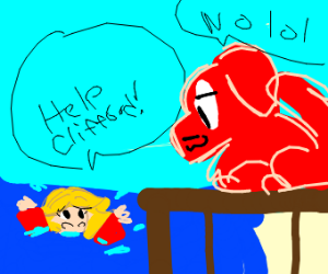 Clifford doesn't wanna save drowning Emily