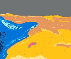 Boomerang on beach