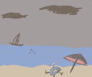 Drawception D is on vacation