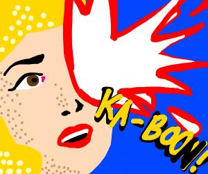 Pop Art Face Explosion