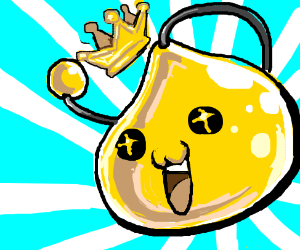 golden slime with mouth open widely