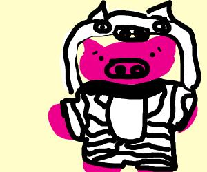 Piggy in a costume