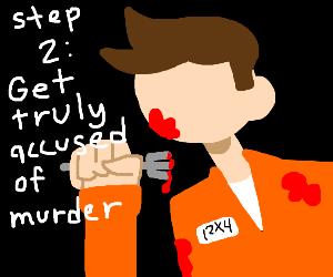 Step 1: get falsely accused of murder