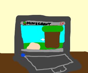 minecraft on laptop