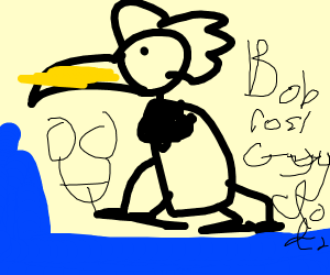 bob ross but as a dodo