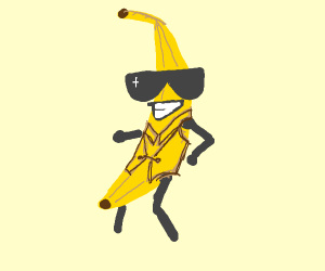 cool guy in a banana suit