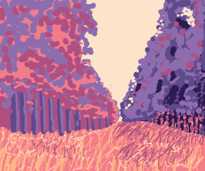 a purple forest