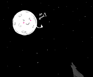 wolf howling at moon(it is so good!)