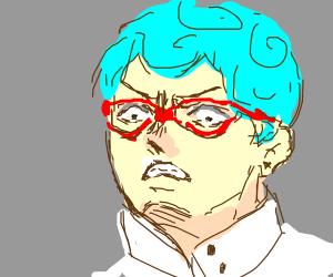 Some angry anime boy.
