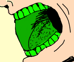 A serious case of Green Mouth Disease