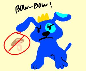Blue w crown & doesntIke mushrooms