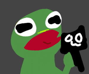 Kermit does an OwO