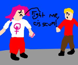 sjw wants to fight