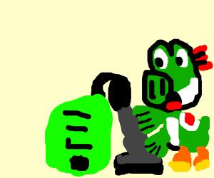 Dinosaur Vacuuming