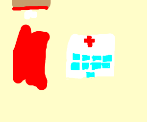 Blood and a hospital