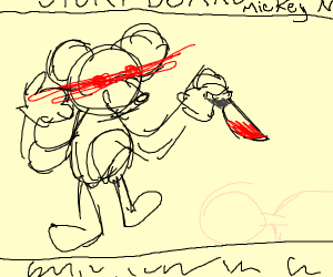 story board mikey mouse killer